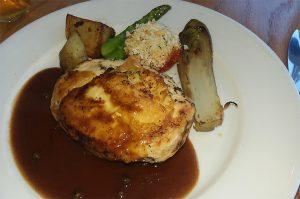 Lunch menu Roast Chicken